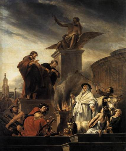 Berchem,_Nicolaes_Pietersz._-_Paul_and_Barnabas_at_Lystra_-_1650