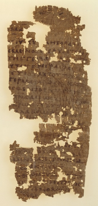 Papyrus_26_-_Papyrus_Oxyrhynchus_1354_-_Bridwell_Papyrus_1_-_Epistle_to_the_Romans_1,1-16_-_recto