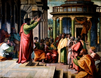 V&A_-_Raphael,_St_Paul_Preaching_in_Athens_(1515).jpg