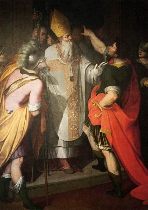 Camillo_Procaccini_-_St_Ambrose_Stopping_Theodosius_-_WGA18422