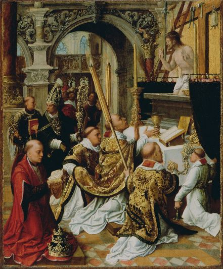 1024px-Adriaen_Ysenbrandt_(Netherlandish,_active_1510_-_1551)_-_The_Mass_of_Saint_Gregory_the_Great_-_Google_Art_Project