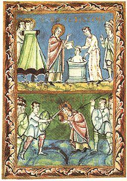 256px-St_Boniface_-_Baptising-Martyrdom_-_Sacramentary_of_Fulda_-_11Century