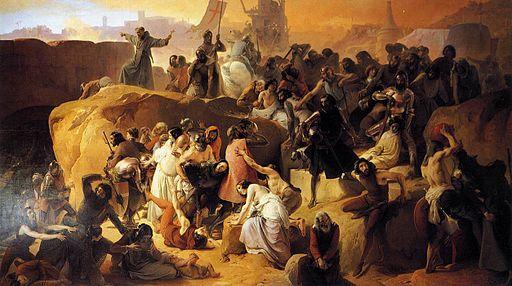 512px-Hayez,_Fracesco_-_Crusaders_Thirsting_near_Jerusalem_-_1836-50