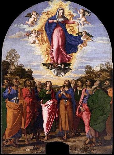 512px-Palma_il_Vecchio_-_Assumption_of_Mary_-_WGA16930